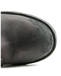DIESEL - D Tankker Boot Men Round Toe Leather Black Boot for Men - Lyst