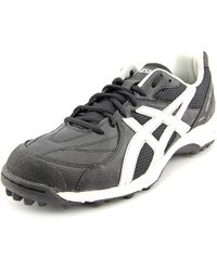 Asics - Black Lethal Shot Turf Round Toe Synthetic Sneakers - Lyst