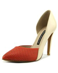 French Connection - Multicolor Mabel Women Pointed Toe Leather Tan Heels - Lyst