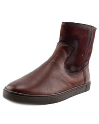 Frye - Red Gemma Short Shearling Round Toe Leather Winter Boot for Men - Lyst