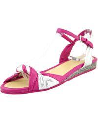 Cole Haan | Pink Kaylin Flat Sandal Women Open Toe Leather Sandals | Lyst
