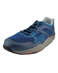 PUMA | R698 Tech Men Round Toe Synthetic Blue Sneakers for Men | Lyst