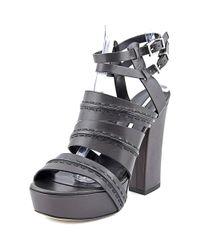 Camilla Skovgaard - Platform Women Open Toe Leather Brown Sandals - Lyst