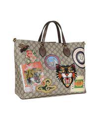 Gucci - Women's Multicolor Fabric Tote - Lyst