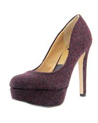 Dolce Vita | Red Rosane Women Round Toe Canvas Heels | Lyst