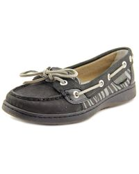 Sperry Top-Sider - Black Sperry Top Sider Angelfish Moc Toe Leather Boat Shoe for Men - Lyst