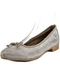 Gerry Weber | Metallic Edith 01 Round Toe Leather Ballet Flats | Lyst