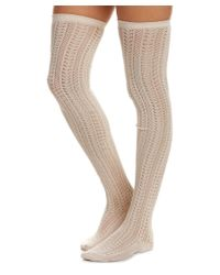 Free People - Natural Pointelle Hammock Thigh-high Sock - Lyst