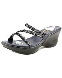 Callisto | Blue Shana Women Open Toe Synthetic Wedge Sandal | Lyst