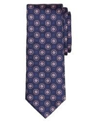 Brooks Brothers - Blue Large Medallion Tie for Men - Lyst
