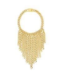 Eklexic | Metallic Curb Chain Fringe Necklace | Lyst