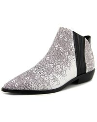 L.A.M.B. | White Mayor Women Pointed Toe Leather Bootie | Lyst