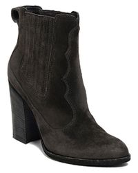 Dolce Vita | Gray Conway Suede Bootie | Lyst
