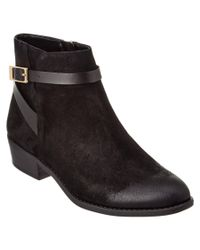 Franco Sarto | Black Shandy Leather Bootie | Lyst