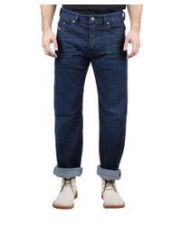 DIESEL | Blue Larkee-relaxed Men's Comfort-straight Stretch Denim Jeans 0845b for Men | Lyst