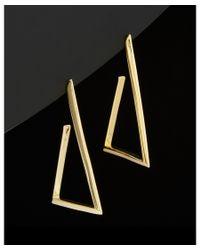 Argento Vivo - Metallic 18k Plated Triangle Hoop Earrings - Lyst