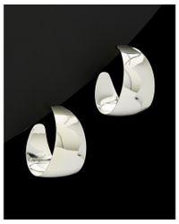 Argento Vivo - Metallic Silver Plated Bubble Hoop Earrings - Lyst