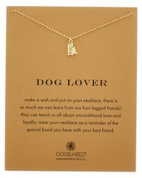 Dogeared | Metallic 14k Over Silver Dog Lover Yorkie Necklace | Lyst