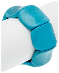 Devon Leigh - Blue Turquoise Stretch Bangle - Lyst