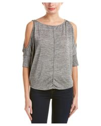 Michael Stars | Gray Cold-shoulder Top | Lyst