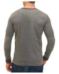 Robert Graham - Gray Classic Fit Knit Henley for Men - Lyst