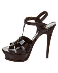 Saint Laurent - Black Classic Tribute 105 Patent Sandal - Lyst
