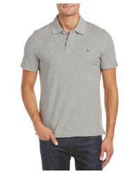 Original Penguin - Gray The Pop Basic Slim Fit Polo Shirt for Men - Lyst