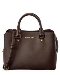 MICHAEL Michael Kors | Brown Savannah Medium Leather Satchel | Lyst