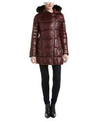 Marc New York - Brown Jillian Lacquer Puffer Down Coat - Lyst