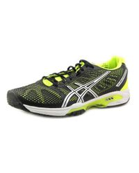 Asics | Black Gel-solution Speed 2 Round Toe Synthetic Running Shoe for Men | Lyst