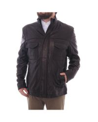 Elie Tahari | Front Placket W/ Chest Pockets Zipper Jacket Black for Men | Lyst