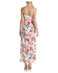MINKPINK - White Floral Wrap Maxi Dress - Lyst