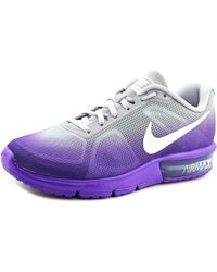 Nike | Air Max Sequent Women Round Toe Synthetic Purple Running Shoe | Lyst
