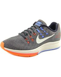 Nike | Gray Air Zoom Structure 19 Round Toe Synthetic Running Shoe | Lyst