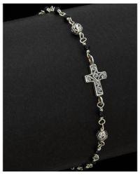 Lois Hill | Metallic Silver Black Onyx Cross Id Bracelet | Lyst