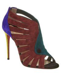 Christian Louboutin | Blue Toot Mignonne 100 Colorblock Suede Sandal | Lyst