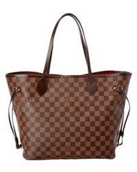 Louis Vuitton - Brown Damier Ebene Canvas Neverfull Mm - Lyst