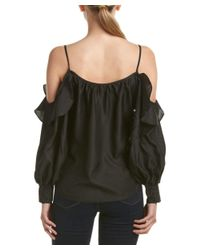 Parker | Black Cold-shoulder Top | Lyst
