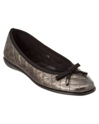 The Flexx | Gray The Bon Gout Leather Flat | Lyst