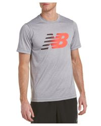 New Balance - Gray Short Sleeve Heather Graphic T-shirt for Men - Lyst