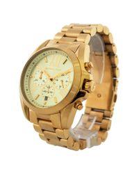 Michael Kors - Metallic Mk5605 Bradshaw Gold-tone Watch By For Women - 1 Pc Watch - Lyst