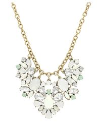 Sparkling Sage | Metallic 14k Plated Crystal & Resin Statement Necklace | Lyst