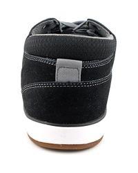 Volcom - Quinn Men Round Toe Leather Black Sneakers for Men - Lyst