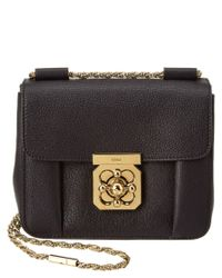 Chloé | Black Elsie Small Leather Shoulder Bag | Lyst