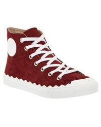 Chloé - Red Kyle Suede High-top Sneaker for Men - Lyst