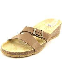 Easy Street - Sandalo Women W Open Toe Leather Brown Wedge Sandal - Lyst