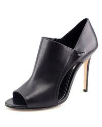 Elie Tahari | Opiate Women Peep-toe Leather Black Heels | Lyst