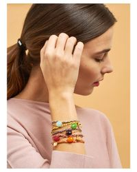 Les Nereides - Lucky Bracelet Bee And Green Stone - Lyst