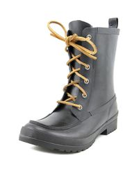 Sperry Top-Sider | Black Sperry Top Sider Walker Wisp Round Toe Synthetic Rain Boot | Lyst