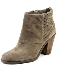 Jessica Simpson | Casha Women Round Toe Suede Gray Ankle Boot | Lyst